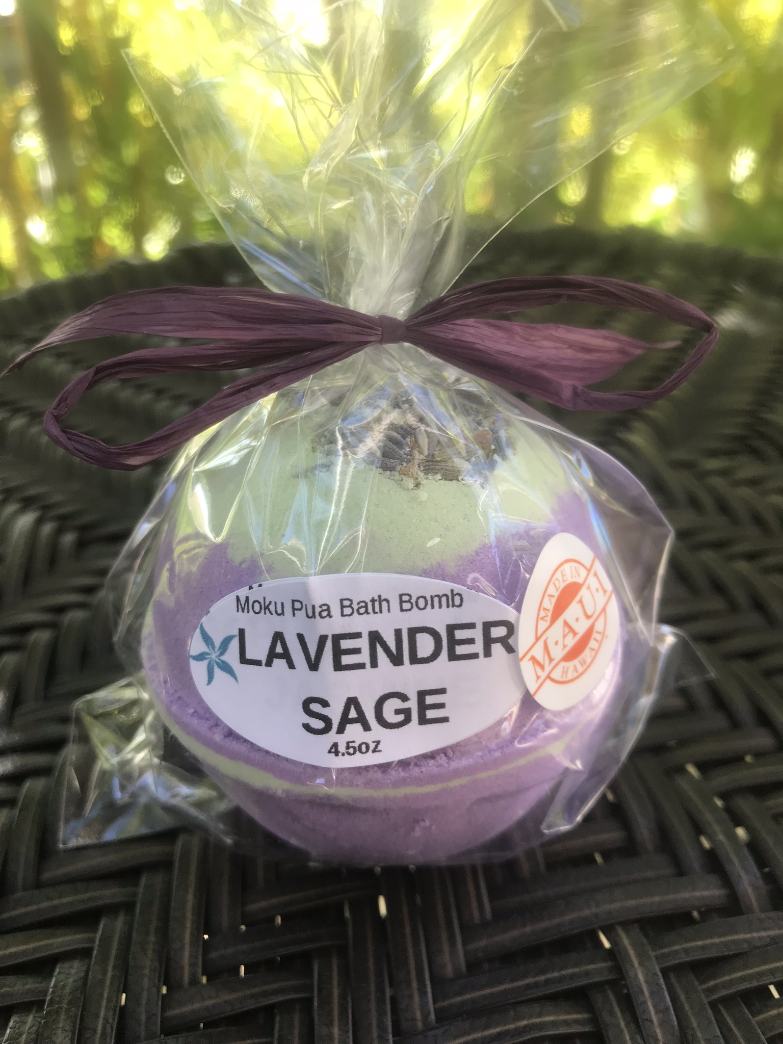 Lavender Sage Fizzy Bath Bomb